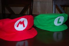 I& been getting a lot of emails lately about my Super Mario Birthday party. After much digging around, I did find some of my older p. Mario And Luigi Hats, Super Mario Hat, Mario And Luigi Costume, Mario Cosplay, Super Mario World, Super Mario Birthday, Mario Birthday Party, Mario Party, Carnival