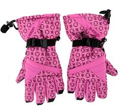 Chariot Trading  Cotton Adjustable Windproof Antislip Skiing Skating Gloves >>> Click on the image for additional details.