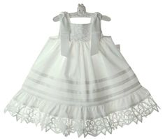 White lacy summer dress. Don't you just love it!