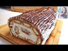Tiramisu roláda, pripravená za pár minút, bez varenia a bez pečenia. Každý si bude pýtať recept. - YouTube Ice Cream Candy, Tiramisu, Cake Cookies, No Bake Cake, The Creator, Rolls, Bread, Baking, Ethnic Recipes