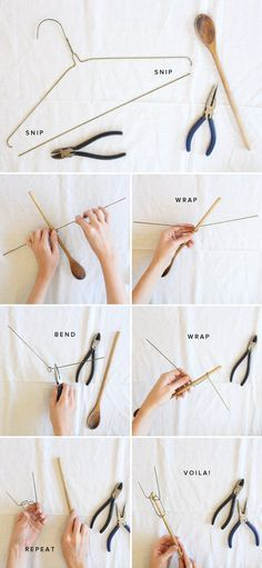 Make your own fork for bonfires - Great for (all beef, turkey or chicken) dogs, or smores!