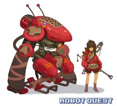 RobotQuest Girl Red by jamesmcdonald.deviantart.com on @deviantART