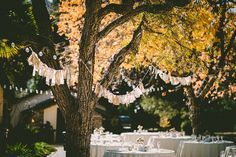 This outdoor event is beautifully decorated!