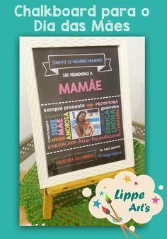 20x30cm Chalkboard de Feliz Dia das Mães