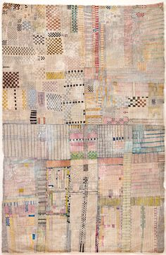#mixedmedia #art by Huguette Caland. Paper quilt!