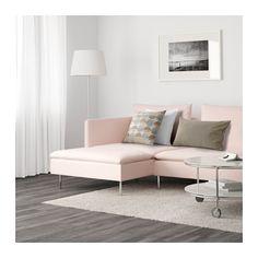 SÖDERHAMN 3er-Sofa und Récamiere - Samsta hellrosa - IKEA