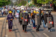 Location: Mandalay #whatshappeninginmyanmar #savemyanmar #peacefulprotest #genzprotest #smartprotest #threefingersalute #hearthevoicesofmyanmar #massiveprotest Peaceful Protest, Mandalay, Golf Bags, Landline Phone, Shit Happens, Sports, Hs Sports, Sport