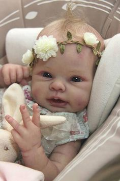 Reborn Baby Lifelike Custom OOAK PILAR by Adrie Stoete Limited Edition. Down Payment Option Available by SofiaCellesteReborns on Etsy Reborn Doll Kits, Reborn Baby Dolls, Reborn Child, Brown Auburn Hair, Boy Baby Doll, Real Life Baby Dolls, Baby Nails, Realistic Baby Dolls, Lifelike Dolls