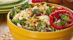 broccoli bacon pepper cauliflower salad