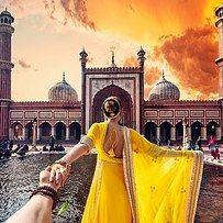 Murad Osmann is a Russian photographer who started a hashtag series called #followmeto on Instagram, which features him being led around the world by his girlfriend. | This Dude Who Follows His Girlfriend Around The World Just Posted Their Stunning Wedding Photos