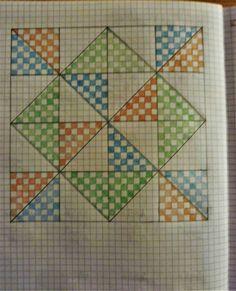 Graph Paper Drawings, Graph Paper Art, Doodle Drawings, Cross Stitch Patterns, Quilt Patterns, Graph Crochet, Pinwheel Quilt, Math Art, Doodle Designs