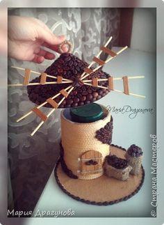 Всем приветик! хочу вам показать свою новую работку) Мельница для хранения кофе!  фото 4
