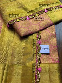 Saree Kuchu New Designs, Saree Tassels Designs, Wedding Saree Blouse Designs, Pattu Saree Blouse Designs, Blouse For Silk Saree, Cotton Saree, Silk Saree Kanchipuram, Wedding Silk Saree, Indian Silk Sarees