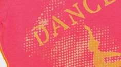 Dance T Shirt Bright Pink Hand Painted. $25.00, via Etsy.