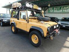 Defender For Sale, Defender 90, 16 Inch Wheels, Performance Tyres, Landrover Defender, Yellow Interior, Custom Wheels, New Tyres, Fuel Economy