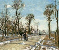 Pissarro -   Camino, sol de invierno y nieve