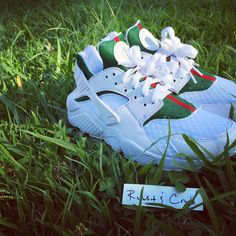 Custom White Nike Air Huarache X Gucci