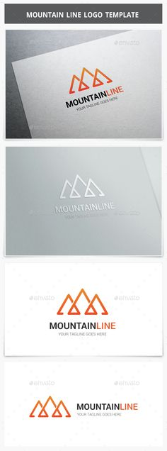 Mountain Line Logo by XpertgraphicD Logo Description : Very stylish, clean and modern logo template. This logo is fully vector graphic. This logo template can be used