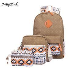 be42551cda9 Korean Canvas Printing Backpack Women School Bag Vintage Laptop Teenage Girl  Fashion Backpack, Backpack 2017