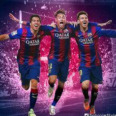 Suárez Messi y Neymar