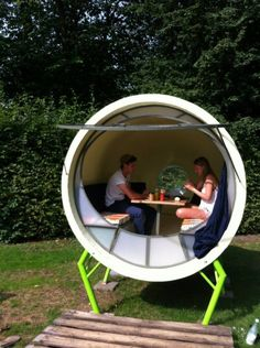 Polaris M is a mobile home made out of an old polyster silo.  Admit it - you have always wanted to sleep inside of a drain pipe.  This futur...