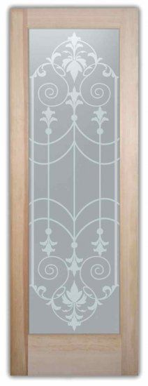 67 x x Clear Tempered Glass with Chiseled Irregular Edges. Glass Bathroom Door, Etched Glass Door, Glass Etching Designs, Glass Etching Stencils, Stained Glass Art, Stained Glass Windows, Window Glass Design, Sand Glass, Sandblasted Glass