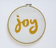 Joy Cross Stitch Modern Cross Stitch par ModernStitchTherapy                                                                                                                                                                                 More