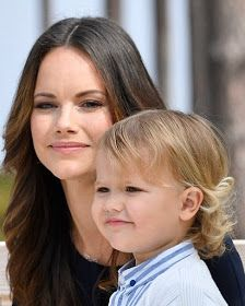 Sweden's Princess Sofia looked happy and relaxed as she enjoyed the outing at the nature reserve in Sodermanland with their young son Prince Alexander.