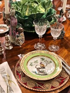 Frank de Biasi tablesetting for Christie's using items from the upcoming Rockefeller Collection auction