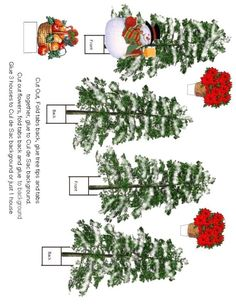 Paper Crafts – Playsets – Mini Christmas Village This will be a fun craft when the kiddies are on holiday and say they are bored or have nothing to do. My grands love to get a glue sti…