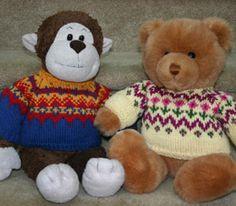 Nordic Knitted Teddy Bear Sweater | AllFreeKnitting.com