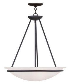 Livex Lighting 4826 Newburgh Bowl Pendant with 3 Lights Black Indoor Lighting Pendants