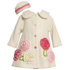 Bonnie Baby Girls Ivory Fleece Coat and Hat Ivory 12 Months >>> Check this awesome product by going to the link at the image. Girls Coats & Jackets, Baby Girl Jackets, Baby Girl Dress Patterns, Baby Dress, Sewing Coat, Baby Coat, Girl Doll Clothes, Girls Jeans, Holiday Outfits