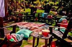 Outdoor Movie Night Inspiration with Cost Plus World Market >>#WorldMarket Outdoor Movie Night
