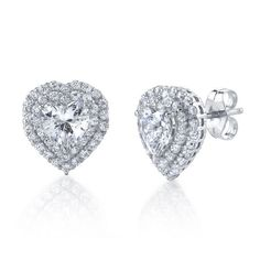 7b9c3ab27 Diamonvita® 1 5/8 ct. tw. Simulated Diamond Stud Earrings in Sterling