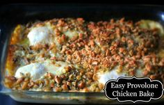 Easy Provolone Chicken Bake - Aunt Bee's Recipes