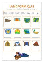 Landforms Worksheet   Homeschooling Earth Science