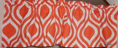 Emily Tangelo Window Valance  Custom Made 52 x 15 Great for any Room #Handmade #Contemporary