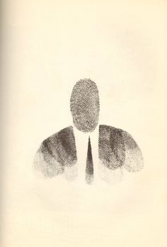 Saul Steinberg ..Would be fun to do a unit with students using their finger prints!! #ART