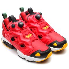 Reebok Insta Pump Fury: Excellent Red/Black/Nuclear Yellow