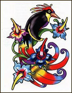 "Bird Of Paradise Temporaray Tattoo by Tattoo Fun. $4.95. This temporary tattoo seems as if it were pulled out straight from pradise. This 3"" X 2"" is so full of color that it make you want to dive into this paradise. The colors are a mixture of blues, reds, yellows, and greens! They're both bold and vibrant. This temporary tattoo will look great on the should or the shoulder blade. it truly will great just about anywhere that it's placed."
