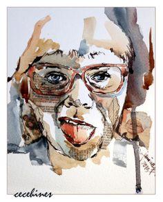 ! Collage, Portrait, Art, Watercolor, Figurine, Art Background, Collages, Headshot Photography, Kunst