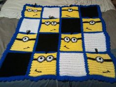 Minion inspired blankets by SilverSwanWolfsScent on Etsy, $40.00