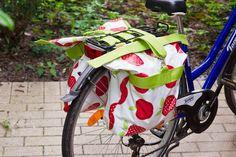 DIY Fahrradtasche aus Wachstuch nähen für den Gepäckträger