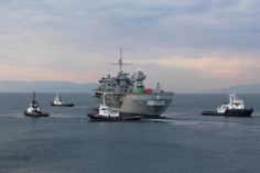 RIJEKA, Croatia (Dec. 19, 2016) The U.S. 6th Fleet command and control ship USS Mount Whitney (LCC 20) is escorted by tug boats as it pulls into the Viktor Lenac dry dock for the 2017 shipyard availability to install vital communication equipment and hospitality upgrades.  Mount Whitney is conducting naval operations in the U.S. 6th Fleet area of operations to engage with key allies and partners in the region. (U.S. Navy photo by Petty Officer 3rd Class Rebeca Gibson/Released)161219-N-N0...
