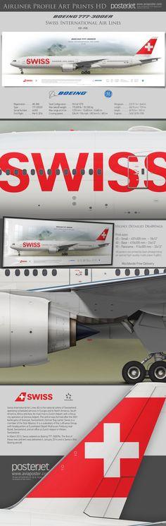 Swiss International Air Lines Boeing B777-300ER HB-JNB Csa Czech Airlines, Air Serbia, Boeing 777 300, Norwegian Air, Atr 72, Swiss Air, Airplane Flying, Airline Logo, Cargo Aircraft