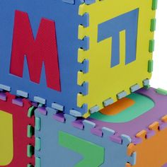 Letters For Kids, Puzzles For Kids, Letters And Numbers, Puzzle Mat, Kids Toys, Cleaning, Playrooms, Lettering, Floor Mats