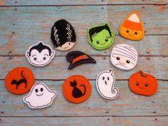 Halloween Felties Ghost Frank Bride Cat Pumpkin Mummy by EODdesign