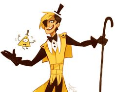 Humanized!Bill Cypher from Gravity Falls >>> @forevertheoptimist I approve of your ship