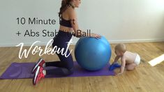 10 Minute Butt + Abs Stability Ball Workout - Home Fitness Workouts, Sport Fitness, Body Fitness, Butt Workout, At Home Workouts, Fitness Motivation, Sport Motivation, Fitness Equipment, Physical Fitness